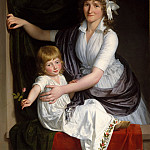 French Painter, about 1795–98 – Portrait of a Woman and Child, Metropolitan Museum: part 4