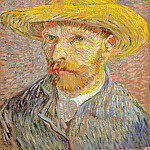 Vincent van Gogh – Self-Portrait with a Straw Hat , Metropolitan Museum: part 4