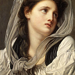 Metropolitan Museum: part 4 - Jean Baptiste Greuze - Head of a Young Woman (Contemplation)