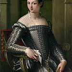 Metropolitan Museum: part 4 - Italian Painter, mid-16th century - Portrait of a Woman