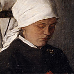 Wilhelm Leibl – Peasant Girl with a White Headcloth, Metropolitan Museum: part 4