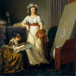 Marie Victoire Lemoine – Atelier of a Painter, Probably Madame Vigée Le Brun , and Her Pupil, Metropolitan Museum: part 4