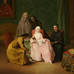 Pietro Longhi – The Visit, Metropolitan Museum: part 4