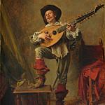 Metropolitan Museum: part 4 - Ernest Meissonier - Soldier Playing the Theorbo