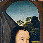 Metropolitan Museum: part 4 - Attributed to Hans Memling - Young Woman with a Pink