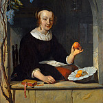 A Woman Seated at a Window, Gabriel Metsu