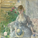 Metropolitan Museum: part 4 - Berthe Morisot - Young Woman Seated on a Sofa