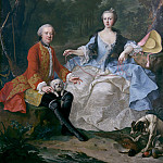 Metropolitan Museum: part 4 - Martin van Meytens the Younger - Count Giacomo Durazzo (1717–1794) in the Guise of a Huntsman with His Wife (Ernestine Aloisia Ungnad von Weissenwolff, 1732–1794)