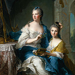 Madame Marsollier and Her Daughter, Jean Marc Nattier