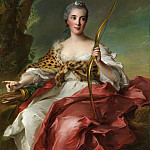 Jean Marc Nattier – Madame de Maison-Rouge as Diana, Metropolitan Museum: part 4