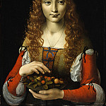 Attributed to Giovanni Ambrogio de Predis – Girl with Cherries, Metropolitan Museum: part 4