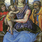 Metropolitan Museum: part 4 - Raffaellino del Garbo (Italian, Florence 1466?–1524 Florence) - Madonna and Child with Saint Joseph and an Angel