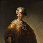Metropolitan Museum: part 4 - Rembrandt (Dutch, Leiden 1606–1669 Amsterdam) - Man in Oriental Costume (The Noble Slav)