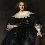 Metropolitan Museum: part 4 - Rembrandt (Dutch, Leiden 1606–1669 Amsterdam) - Portrait of a Young Woman with a Fan