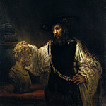 Metropolitan Museum: part 4 - Rembrandt (Dutch, Leiden 1606–1669 Amsterdam) - Aristotle with a Bust of Homer