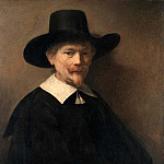 Metropolitan Museum: part 4 - Rembrandt (Dutch, Leiden 1606–1669 Amsterdam) - Portrait of a Man Holding Gloves (attr)