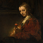 Metropolitan Museum: part 4 - Rembrandt (Dutch, Leiden 1606–1669 Amsterdam) - Woman with a Pink