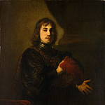 Metropolitan Museum: part 4 - Style of Rembrandt - Portrait of a Man with a Breastplate and Plumed Hat