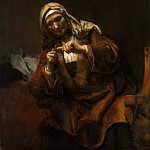 Metropolitan Museum: part 4 - Style of Rembrandt - Old Woman Cutting Her Nails
