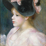 Metropolitan Museum: part 4 - Auguste Renoir - Young Girl in a Pink-and-Black Hat
