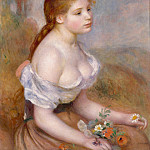 Auguste Renoir – A Young Girl with Daisies, Metropolitan Museum: part 4