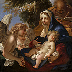 Sebastiano Ricci – The Holy Family with Angels, Metropolitan Museum: part 4