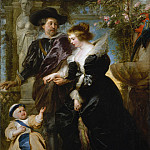 Peter Paul Rubens – Rubens, His Wife Helena Fourment , and One of Their Children, Metropolitan Museum: part 4