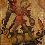 Spanish Painter, first quarter 15th century – Saint Michael and the Dragon, Metropolitan Museum: part 4
