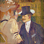 Metropolitan Museum: part 4 - Henri de Toulouse-Lautrec - The Englishman (William Tom Warrener, 1861–1934) at the Moulin Rouge