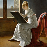 Metropolitan Museum: part 4 - Marie-Denise Villers ) - Young Woman Drawing