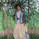 The Stroller (Suzanne Hoschedé, later Mrs. Theodore Earl Butler, 1868–1899), Claude Oscar Monet