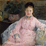 Metropolitan Museum: part 4 - Berthe Morisot - The Pink Dress (Albertie-Marguerite Carré, later Madame Ferdinand-Henri Himmes, 1854–1935)