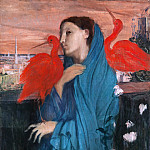 Young Woman with Ibis, Edgar Degas