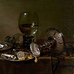 Willem Claesz Heda – Still Life with Oysters, a Silver Tazza, and Glassware, Metropolitan Museum: part 4