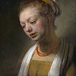 Style of Rembrandt – Young Woman with a Red Necklace, Metropolitan Museum: part 4