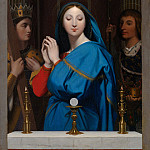 Jean-Auguste-Dominique Ingres – The Virgin Adoring the Host, Metropolitan Museum: part 4