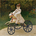 Jean Monet () on His Hobby Horse, Claude Oscar Monet