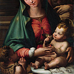 Perino del Vaga – The Holy Family with the Infant Saint John the Baptist, Metropolitan Museum: part 4