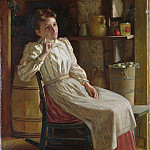 Metropolitan Museum: part 4 - John George Brown , Durham 1831–1913 New York City) - Meditation
