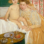 Metropolitan Museum: part 4 - Mary Cassatt - Mother and Child (Baby Getting Up from His Nap)