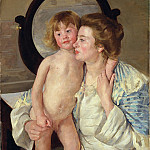 Metropolitan Museum: part 4 - Mary Cassatt - Mother and Child (The Oval Mirror)
