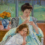 Metropolitan Museum: part 4 - Mary Cassatt - Young Mother Sewing