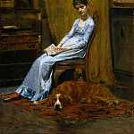 Thomas Eakins – The Artist's Wife and His Setter Dog, Metropolitan Museum: part 4