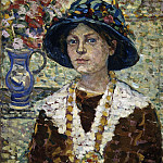 Portrait of a Girl with Flowers, Maurice Prendergast