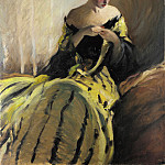 Metropolitan Museum: part 4 - John White Alexander - Study in Black and Green (Oil Sketch)