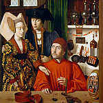 Petrus Christus – A Goldsmith in His Shop, Possibly Saint Eligius, Metropolitan Museum: part 4
