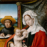 Workshop of Joos van Cleve – The Holy Family, Metropolitan Museum: part 4