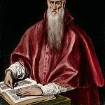 El Greco – Saint Jerome as Scholar, Metropolitan Museum: part 4