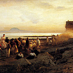 German artists - Flamm Albert Figures On A Shore