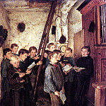 German artists - Piltz Otto - Choir Rehearsal
